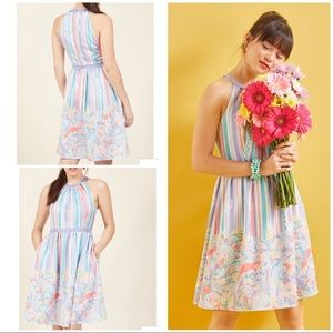 XS Modcloth Behold the Blogger Pastel Floral Dress